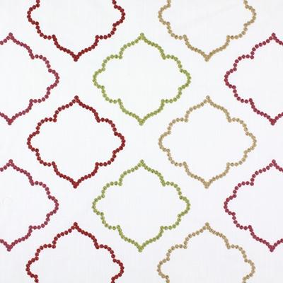 Karim Garnet  43% cotton/ 57% polyester  144cm (useable 131cm) | 15.5cm  Embroidery