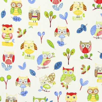 Ollie Owl Paintbox   100% cotton    137cm | 32cm    Curtaining