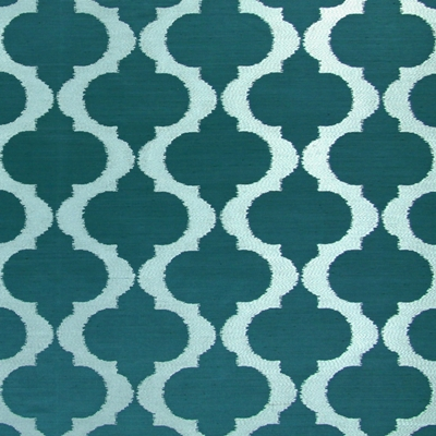 Messina Teal 100% polyester 140cm (useable 137cm) | 16cm Embroidery