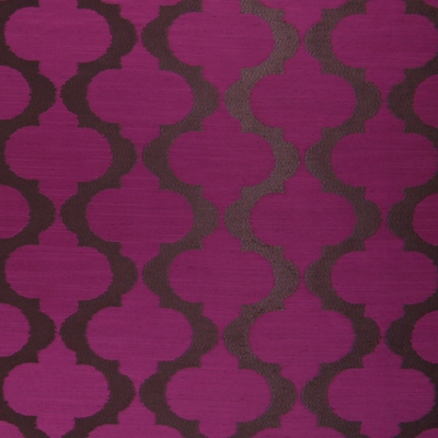 Messina Magenta 100% polyester 140cm (useable 137cm) | 16cm Embroidery