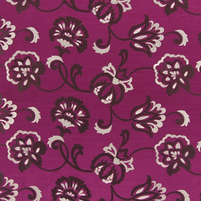Novara Magenta   100% polyester    141cm (useable 138cm)  |   23m    Embroidery