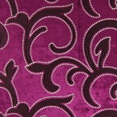 Salerno Magenta 100% polyester 144cm (useable 140cm) |47cm Embroidery