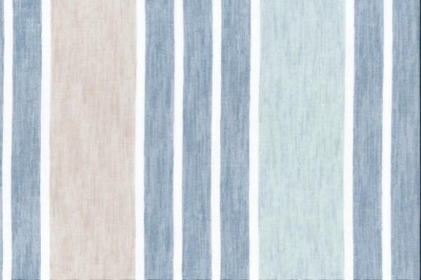 Stella Marina  100% Polyester  300cm drop |Vertical Stripe