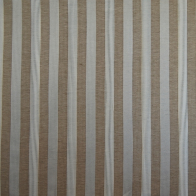 Emperor Mocca 63% polyester/ 37% linen 140cm | Vertical Stripe Curtaining
