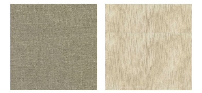 Boucle Hemp from  Simplicity  (upholstery) and Desert Breeze from  Atmosphere  ( curtaining)
