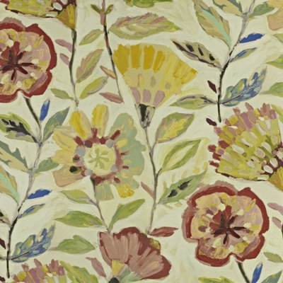 Fandango Hibiscus 59% linen/ 41% cotton 139cm wide | 120cm repeat Dual Purpose