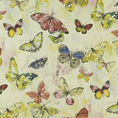Butterfly Cloud Hibiscus 59% linen/ 41% cotton 139cm wide | 96.50cm repeat Dual Purpose