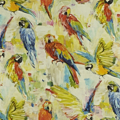 Macaw Tropical 59% linen/ 41% cotton 139cm wide | 96cm repeat Dual Purpose