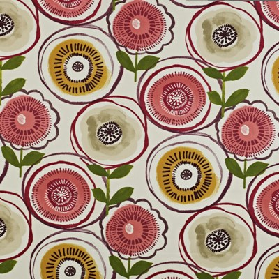 Indah Berry  100% Cotton  137cm wide | 64cm repeat  Curtaining