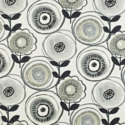 Indah Onyx  100% Cotton  137cm wide | 64cm repeat  Curtaining