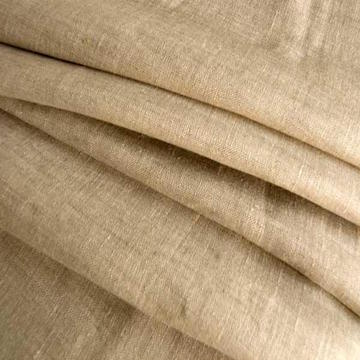 LINEN |  A natural, smooth, lustrous yarn made from Flax fibres. Usually blended with cotton for curtain and upholstery fabrics. Linen is stronger than cotton and very absorbent. It is washable but teds to crease easily. Linen is not as colourfast as cotton.