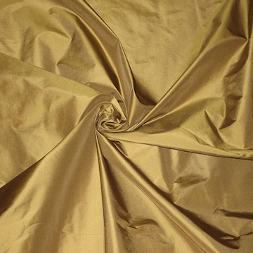 TAFFETA |  A plain weave fairly stiff fabric with a stiff weft rib. Traditionally made in Silk although Polyester Taffeta has high performance ratings for colourfulness, rub-test and easy care.