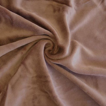 VELOUR |  A cut warp-pile fabric of cotton or wool, with higher, less dense pile than velvet.