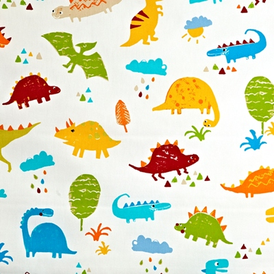 Dino Paintbox  100% Cotton  137cm wide | 64cm  Curtaining