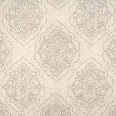 Brocade Parchment  65% Visc/ 19% Lin/ 16% Metallic Emb  140 (side rpts 130) | 46cm  Embroidered