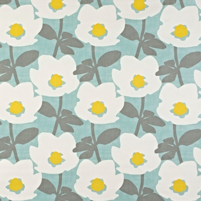 Bermondsey Duck Egg 100% Cotton 137cm wide | 32cm Curtaining