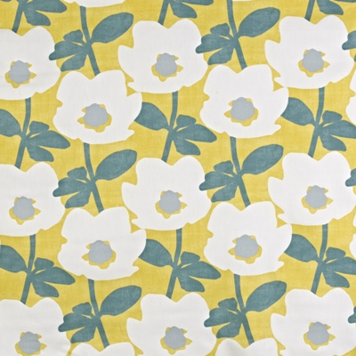 Bermondsey Saffron  100% Cotton  137cm wide | 32cm  Curtaining