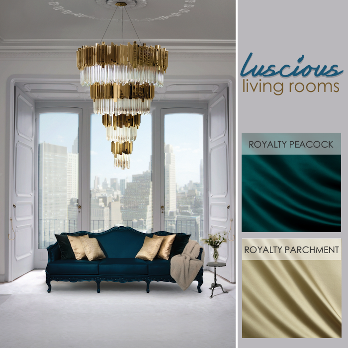Go For Gold With Combinations Of Rich Teal And Golden Hues In Fabrics That Offer A Sophisticated Sheen Your Luxe Living Room Could Also Do Modern