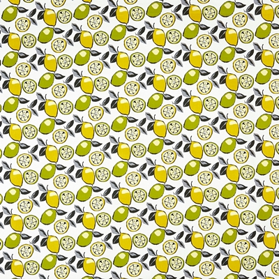 Citrus Mojito  100% Cotton  140cm wide | 21.5cm  Curtaining & Accessories