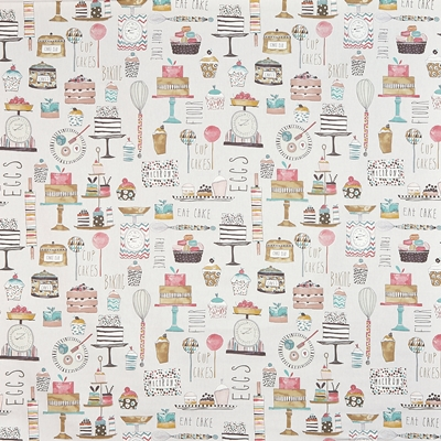 Eat Cake Marshmallow  100% Cotton  140cm wide | 64cm  Curtaining & Accessories