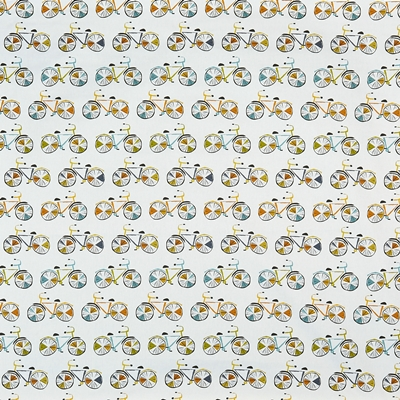 On Your Bike Marmalade  100% Cotton  140cm wide | 64cm   Curtaining & Accessories