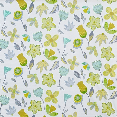 Coconut Grove Lemonade 100% Cotton Approx. 137cm | 64cm Curtaining
