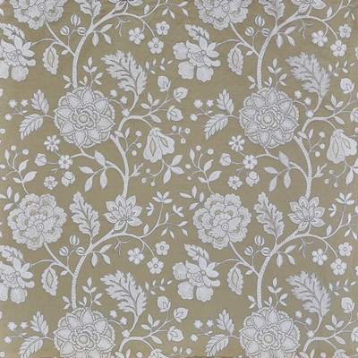 Fabienne Desert Sand 44% Cott/ 28% Lin/ 19% Visc/ 9% Poly 141cm (useable 130.5cm) | 77.5cm Curtaining & Accessories - Embroidered