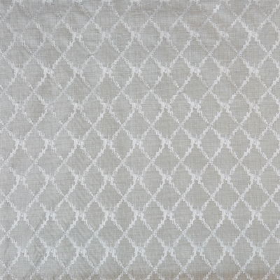 San Rocco Silver Birch  55% Viscose/ 45% Polyester  142cm (useable 139cm) | 16cm  Curtaining & Accessories  Embroidered