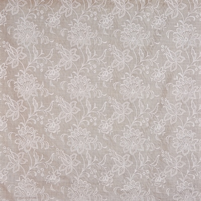 Veneto Silver Birch  61% Viscose/ 39% Polyester  140.5cm (useable 138cm) | 32cm  Curtaining & Accessories  Embroidered