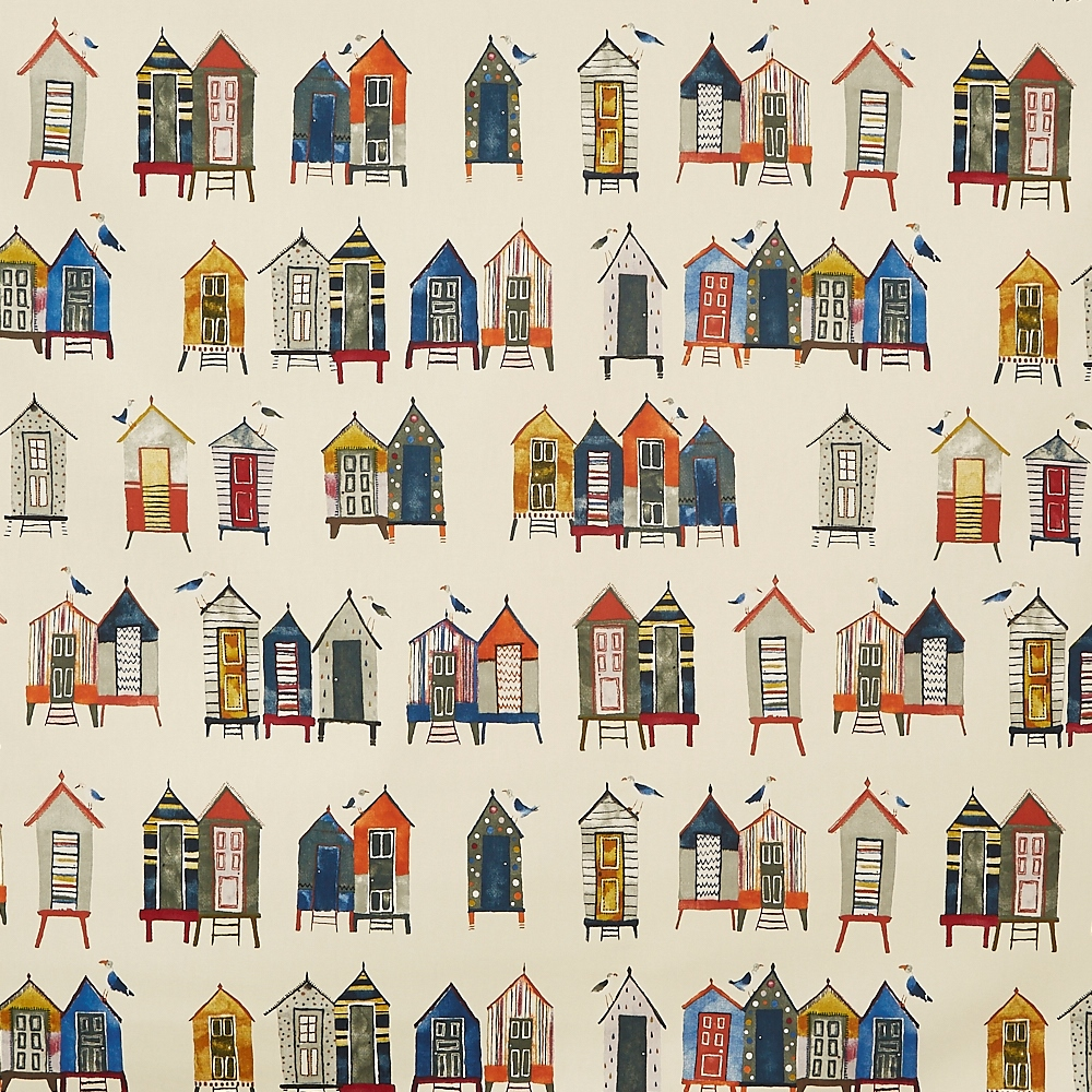 Beach Hut Antique  100% Cotton  137cm | 64cm  Curtaining