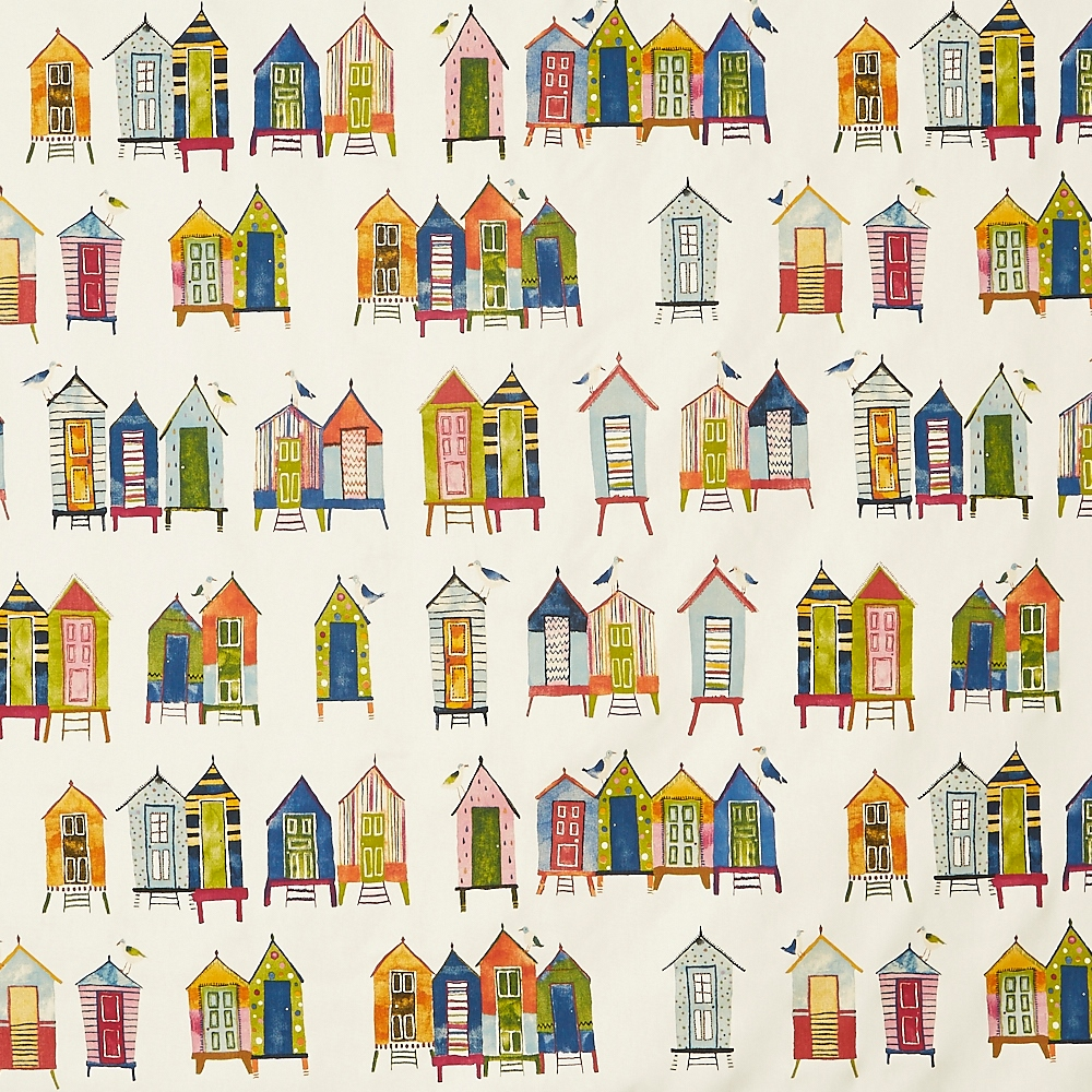 Beach Hut Neopolitan  100% Cotton  137cm | 64cm  Curtaining