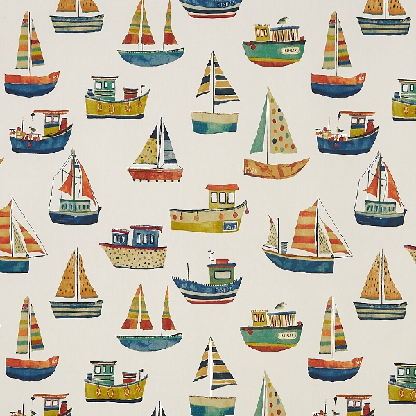 Boat Club Antique  100% Cotton  137cm | 64cm  Curtaining