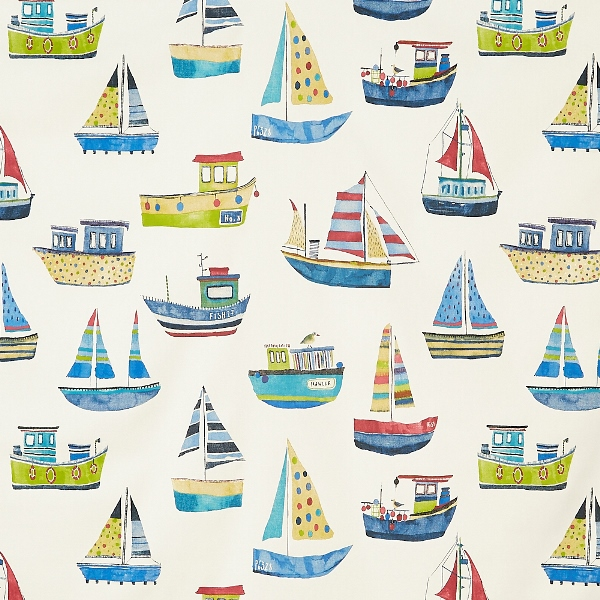Boat Club Cobalt  100% Cotton  137cm | 64cm  Curtaining
