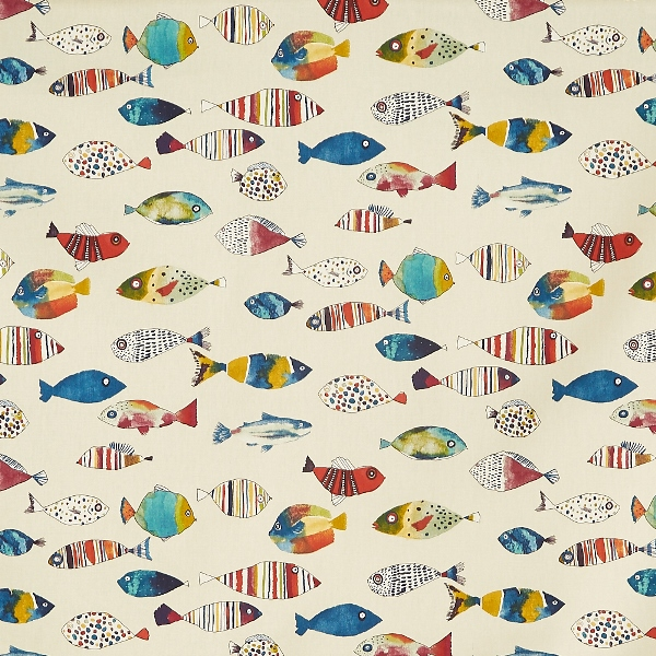 Gone Fishing Tropical  100% Cotton  137cm | 64cm  Curtaining
