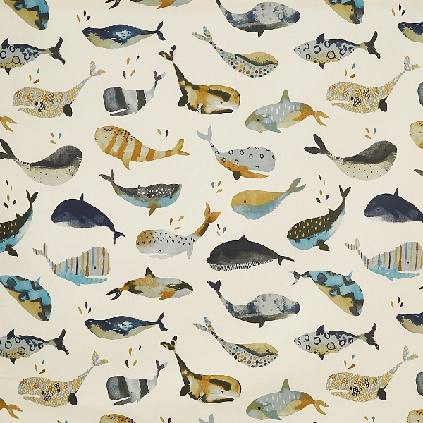 Whale Watching Antique  100% Cotton  137cm | 64cm  Curtaining