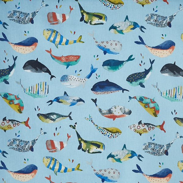 Whale Watching Pacific  100% Cotton  137cm | 64cm  Curtaining