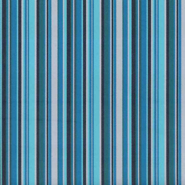 Portico Aqua  73% Polyester/ 27% Acrylic  Approx. 140cm | Vertical Stripe  Indoor/ Outdoor + 25,000 Rubs