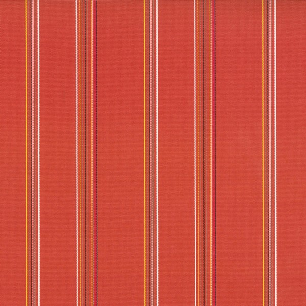 Terrace Tangerine  73% Polyester/ 27% Acrylic  Approx. 140cm | Vertical Stripe  Indoor/ Outdoor 40,000 Rubs