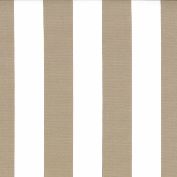 Veranda Mushroom  73% Polyester/ 27% Acrylic  Approx. 140cm | Vertical Stripe  Indoor/ Outdoor 40,000 Rubs