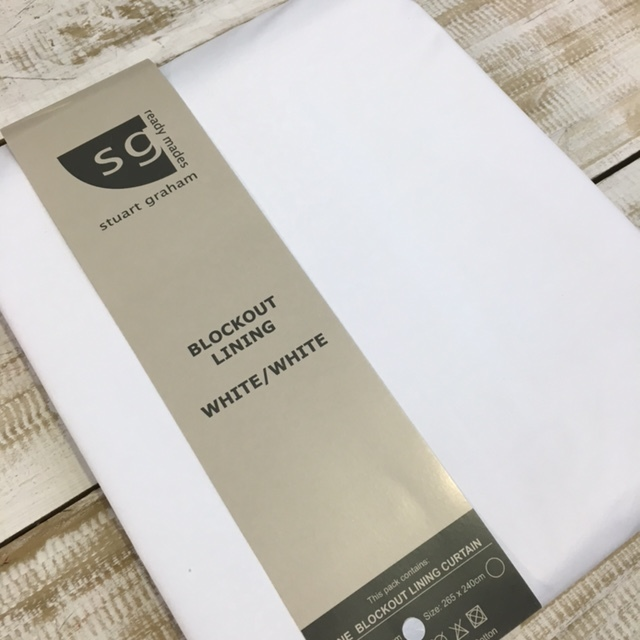 STEP 1 - Purchase the Stuart Graham Fabrics 100% blockout lining curtain. Stockists of this product can be found online here.