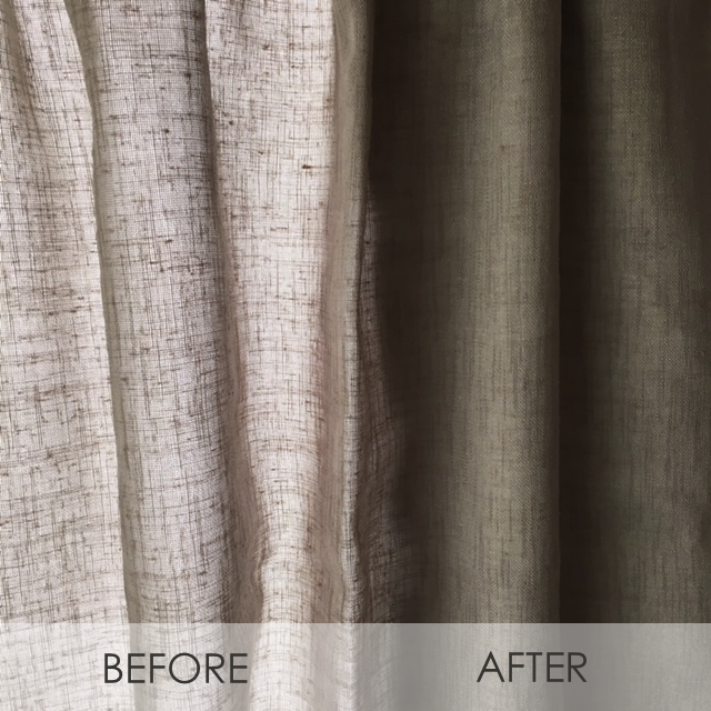 VOILA! - Instant black out for your ready-made eyelet curtain.