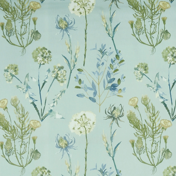 Allium Slate Blue  100% Cotton  Approx. 140cm | 64cm  Curtaining