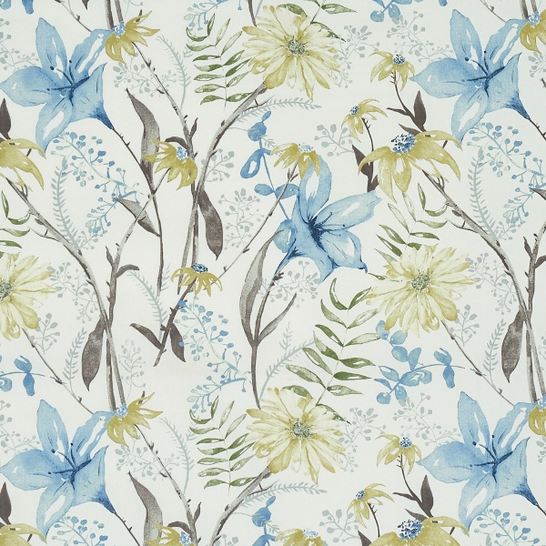 Roof Garden Slate Blue  100% Cotton  Approx. 140cm | 64cm  Curtaining