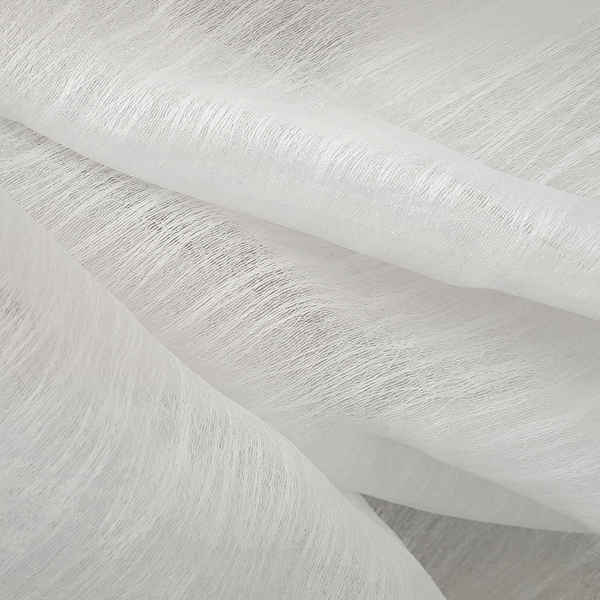 Flurry White  100% Polyester  Approx. 290cm drop |  Plain  Curtaining