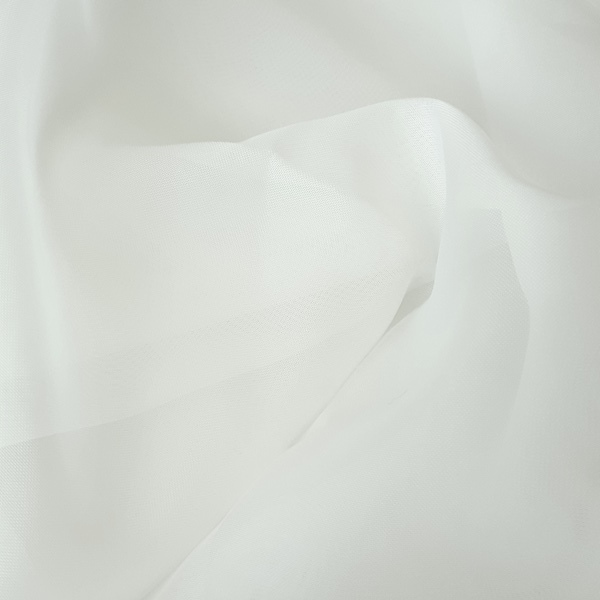 Plain Voile White  100% Polyester  Approx. 300cm drop |  Plain  Curtaining