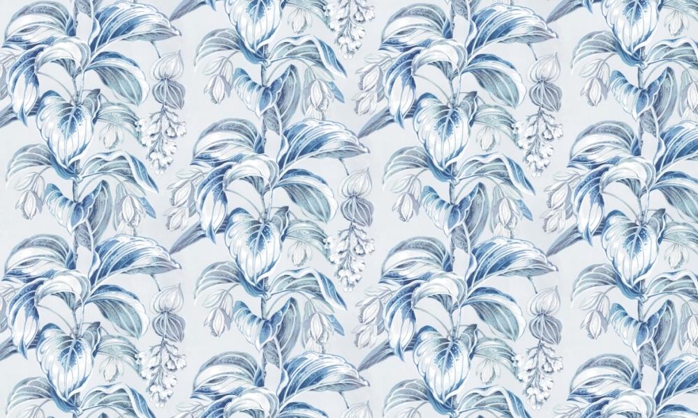 Delicious Aquamarine  100% Cotton  Approx. 280cm Drop (Railroaded)   V: 65cm H: 53cm (half drop)  Dual Purpose 20,000 Rubs