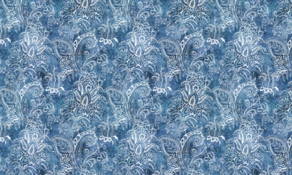 Equator Indigo  100% Cotton  Approx. 280cm Drop (Railroaded)   V: 65cm H:70cm  Dual Purpose 20,000 Rubs