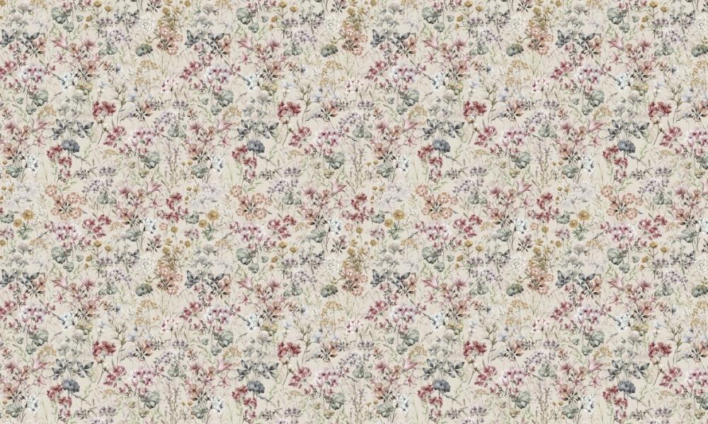 Floriana Heather  100% Cotton  Approx. 280cm Drop (Railroaded)   V: 65cm H: 40cm  Dual Purpose 20,000 Rubs