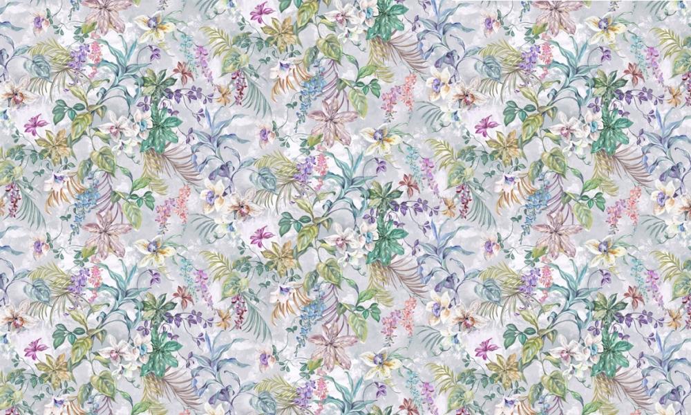 Greenhouse Orchid  100% Cotton  Approx. 280cm Drop (Railroaded)   V: 99cm H: 199cm (half  Dual Purpose 20,000 Rubs