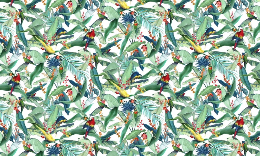 Macaw Primary  100% Cotton  Approx. 280cm Drop (Railroaded) | V: 66cm H:55cm  Dual Purpose 20,000 Rubs